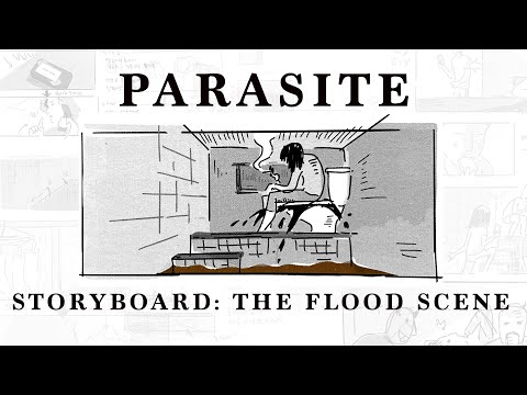 Storyboard to Screen - Parasite: The Flood Scene