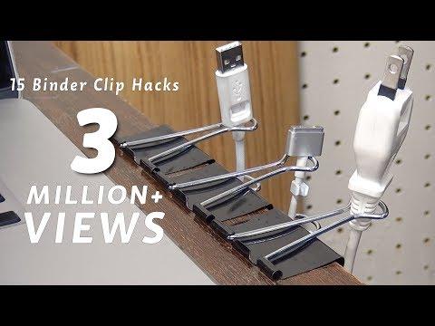 100均のダブルクリップでできる15のコト/15 Life Hack things do with binder clip