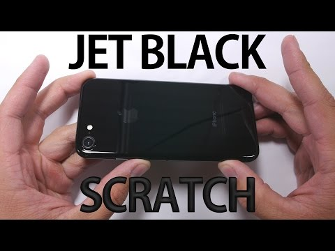 Jet Black iPhone 7 - SCRATCH TEST!