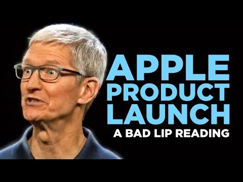"""""""APPLE PRODUCT LAUNCH"""" — A Bad Lip Reading"""