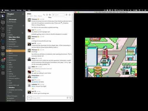Slack running on a SNES