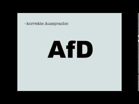 Korrekte Aussprache: AfD
