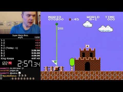 (4:57.260) Super Mario Bros. any% speedrun *Former World Record*