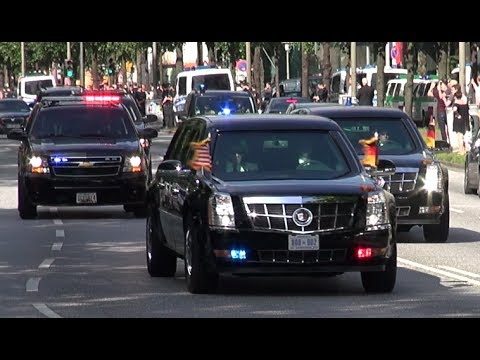 VIP Eskorte US Präsident Donald Trump Delegation / US President´s Motorcade G20 Gipfel