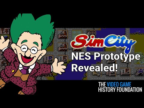 SimCity NES Unreleased Prototype Gameplay