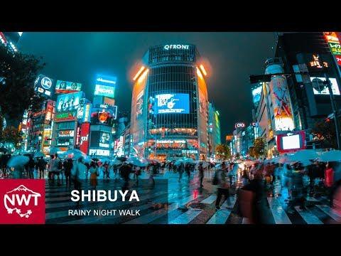 Tokyo Shibuya Rainy Walks Before the storm 4K Binaural ASMR