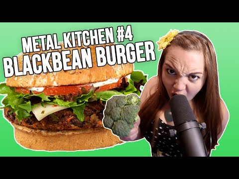 Metal Kitchen #4: Miss May I Makes Black Bean Burgers with Linzey Rae