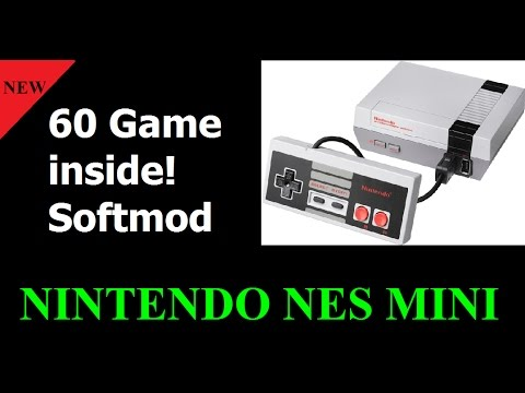 Nintendo Nes Mini jail hacked mod. 60 game included!