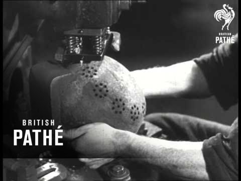 Making Pots From German Helmets (1946)