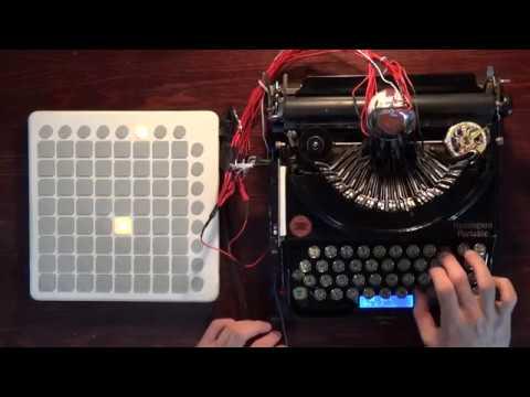 [How To Play] 1920's Typewriter EDM MIDI Controller