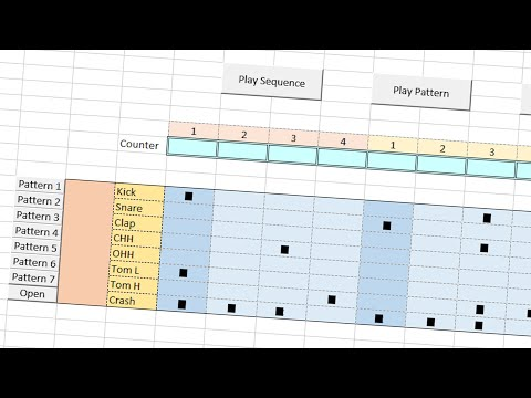 I made an actual Drum Machine in Excel