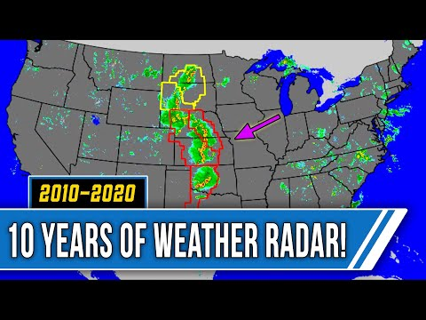 10 Years of Weather Radar - Breathtaking 2010-2020 Time-Lapse