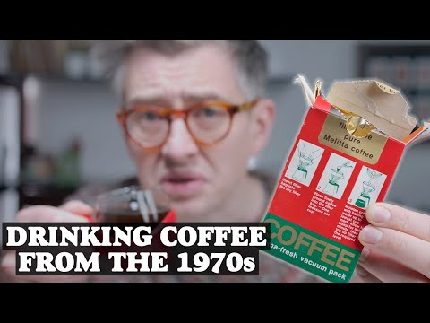 Drinking Coffee From The 1970s