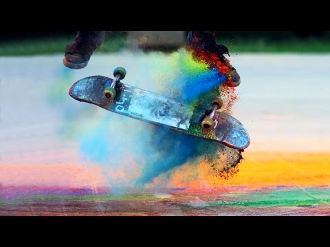 Explosions of Color: Skateboarding in Slow Motion (Chromatic 2)