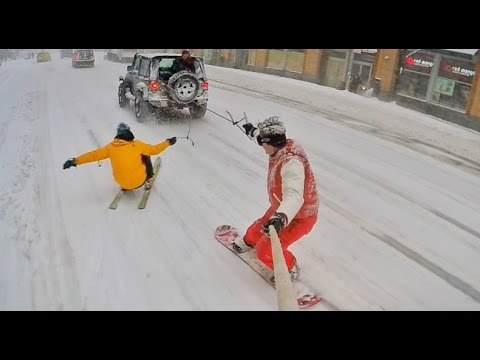SNOWBOARDING THRU NYC / Behind the Scenes