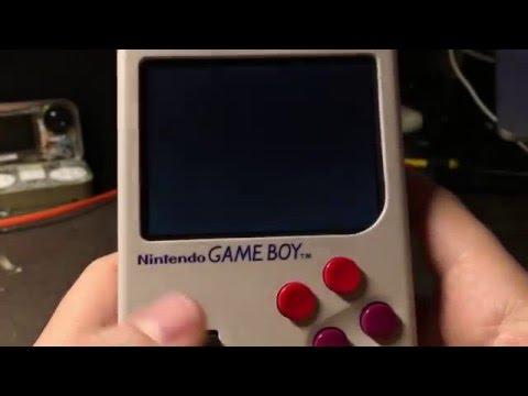 Game Boy Zero with custom SD card reader game cartridge