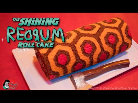 The Shining REDRUM Roll Cake - The Homicidal Homemaker Horror Cooking Show