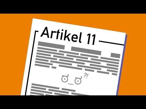 Artikel 11 und Linksteuern in langsam
