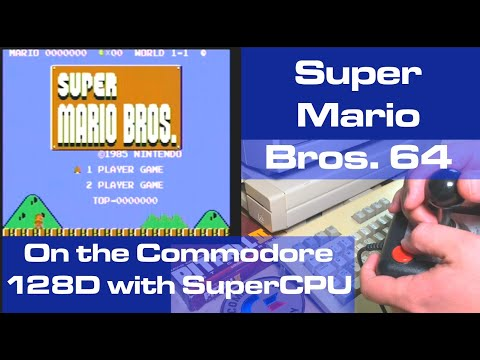 Super Mario Bros. on the Commodore 64/128D with SuperCPU
