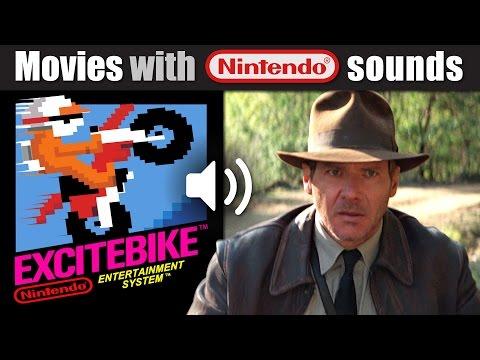 Indiana Jones dubbed with EXCITEBIKE Nintendo sounds! | RetroSFX