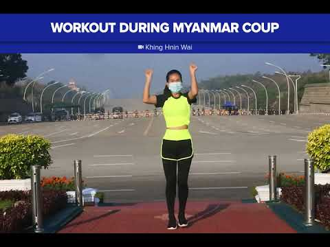 Aerobics class during Myanmar coup goes viral