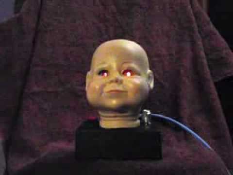 Playing the Baby Head THEREMIN