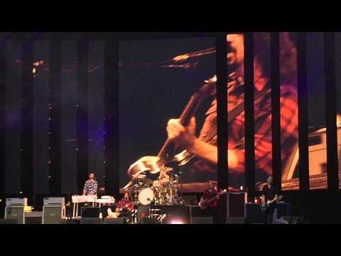 Dave Grohl back on stage after breaking leg. Göteborg Sweden.