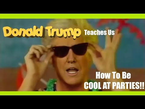 Donald Trump video on how to be cool at parties [Deepfake]