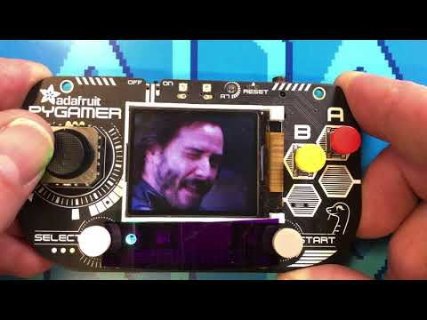 Keanu Reeves GIF playback device with Adafruit PyGamer