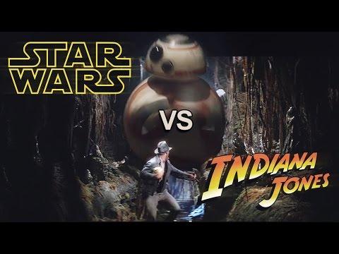 Star Wars vs Indiana Jones droid chase!