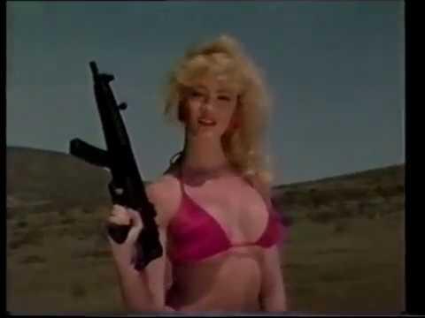 Babes in bikini's firing automatic weapons