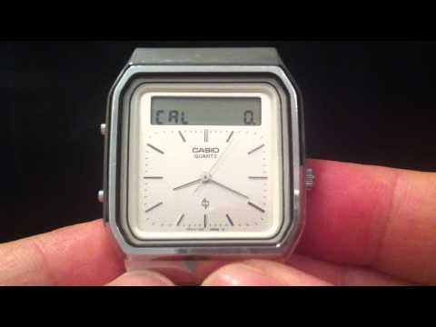Gesture controlled touchscreen calculator watch - guess the year?