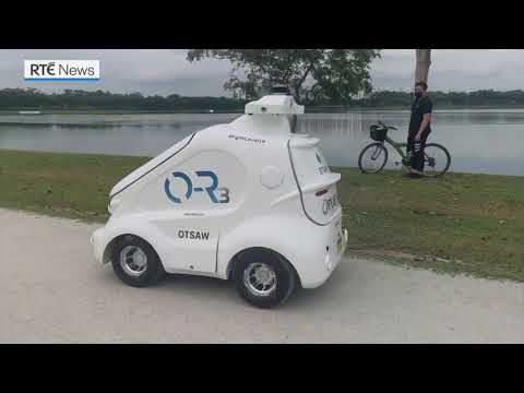 Robot patrols Singapore park to push coronavirus social distancing