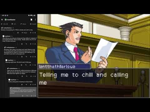 i made a bot that turns reddit arguments into ace attorney