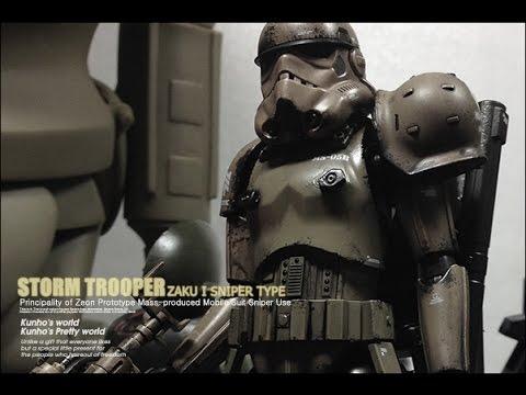 Bandai Storm Trooper + Zaku 1