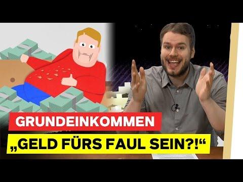 """Grundeinkommen: """"Geld fürs FAUL SEIN?!"""""""
