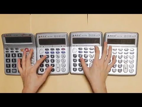 Super Mario Theme - played by Four calculators