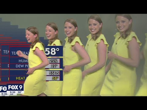 Meteorologist multiplies on screen during graphics glitch   FOX 9 KMSP