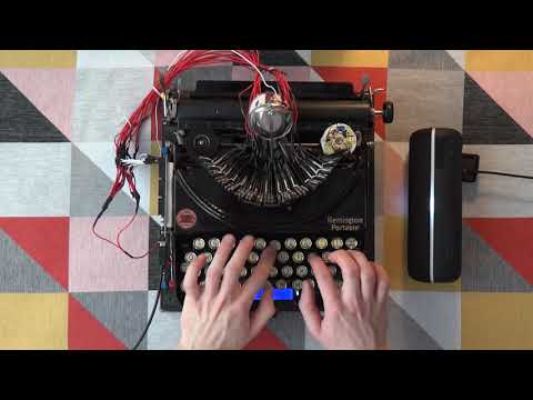 I Turned a 1920's Typewriter into an EDM Drum Machine