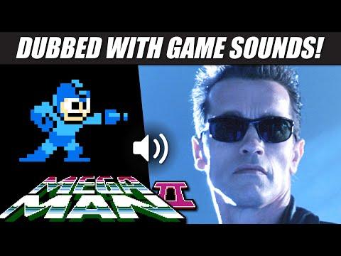 'Terminator 2' dubbed with MEGA MAN 2 game sounds! | RetroSFX