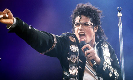Michael Jackson at Wembley Stadium in 1988