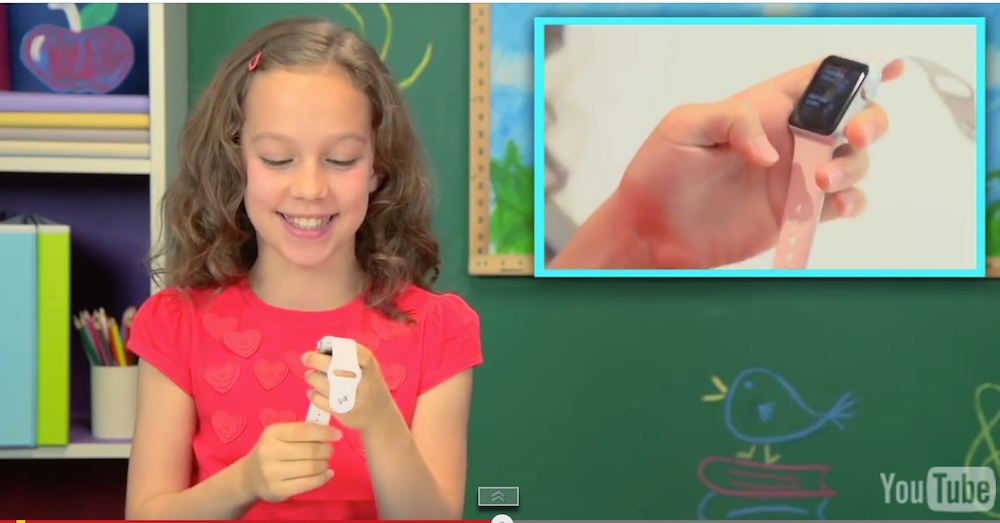 Kids react on Apple Watch