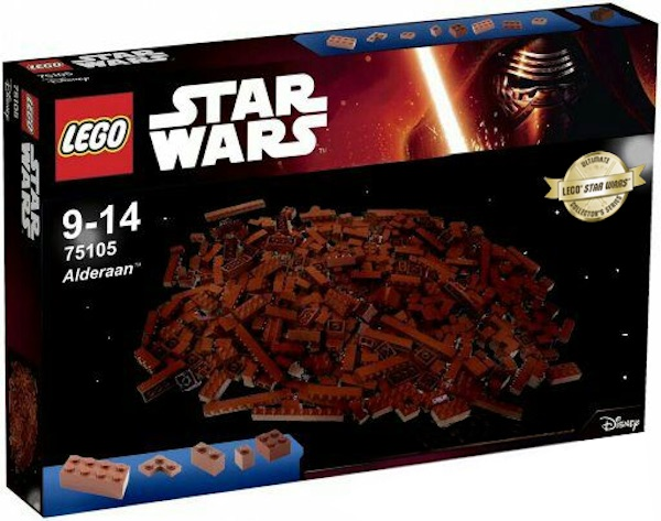LEGO destroyed Alderaan Set