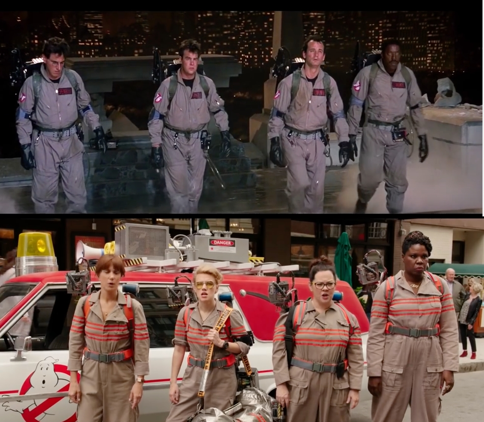 Ghostbusters old new