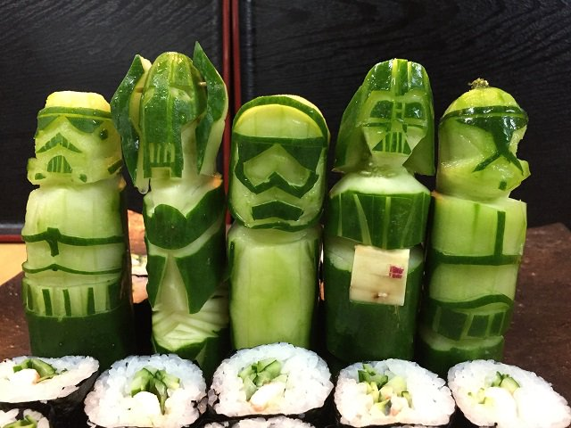 Star wars food art