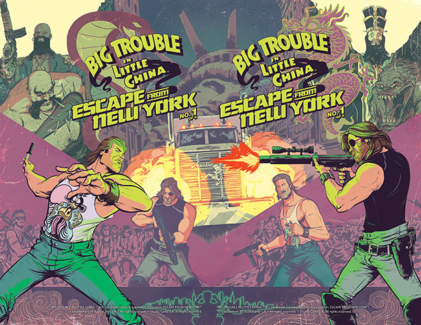 Big Trouble in Little China meets Escape from new York in a Comic