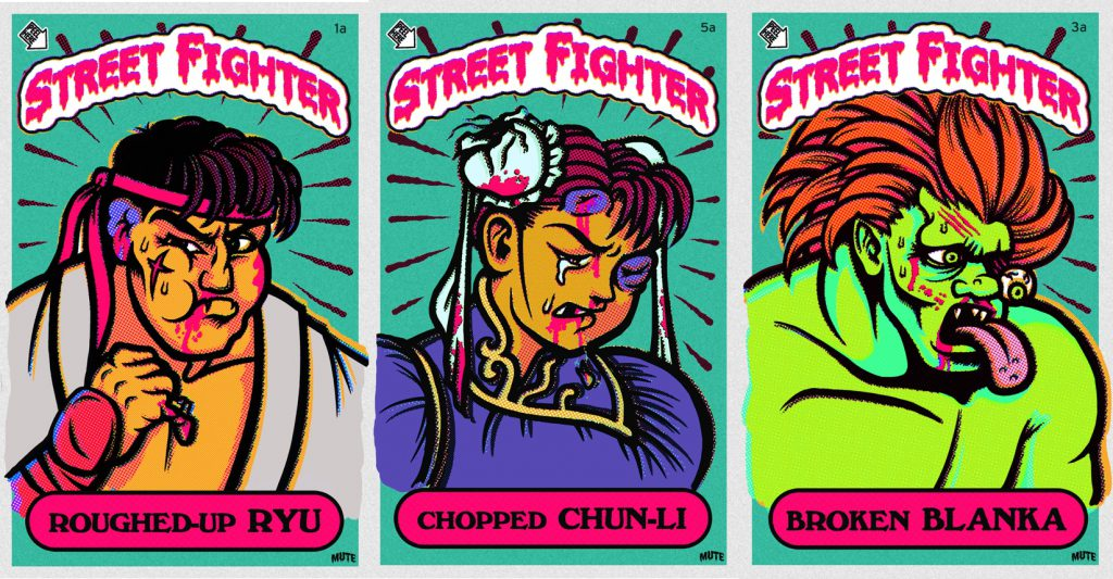 roughes-up Street Fighter 2 Art