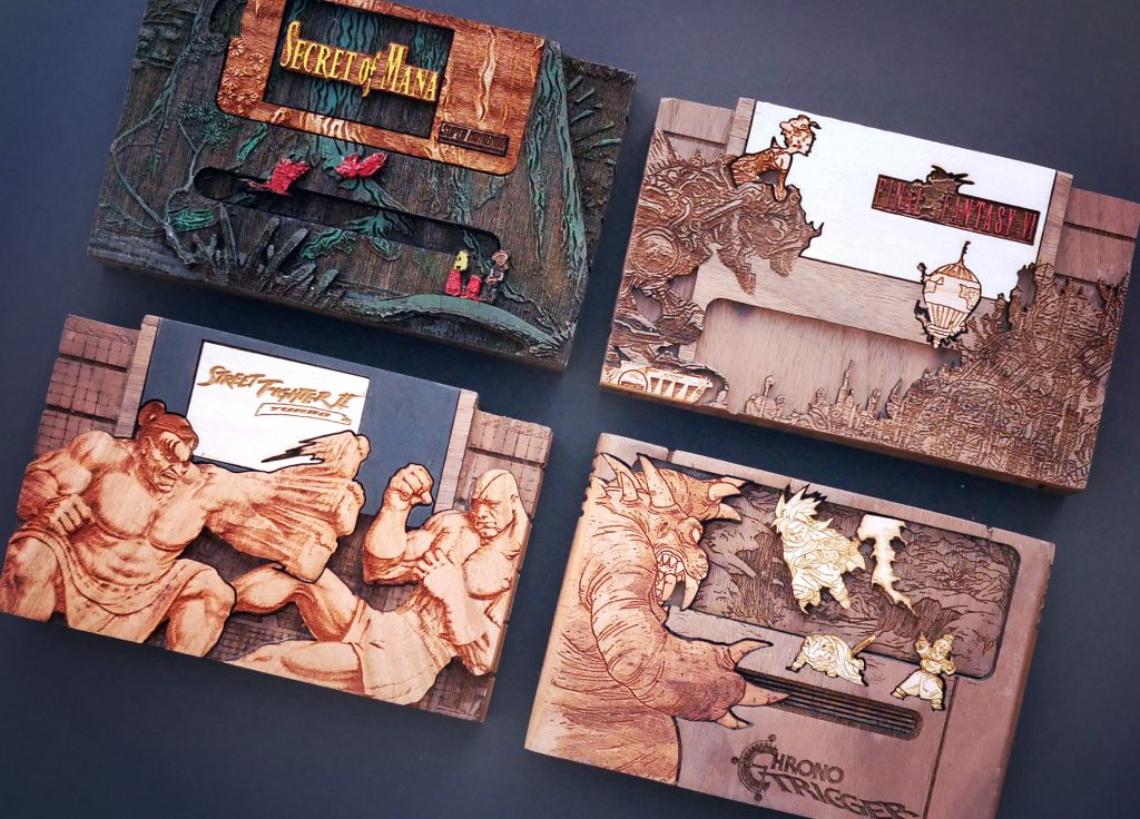Wooden SNES Cartridges