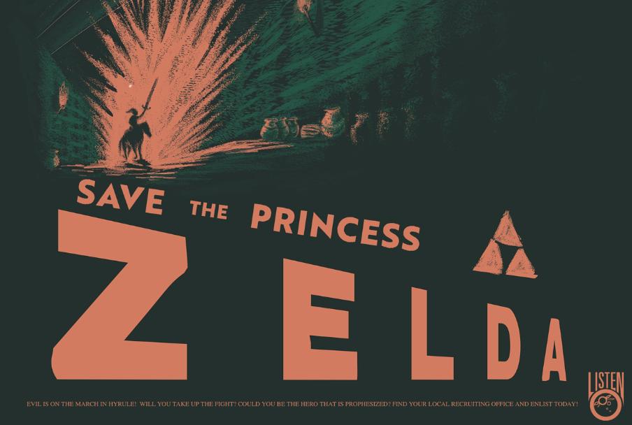 Zelda Propaganda Poster