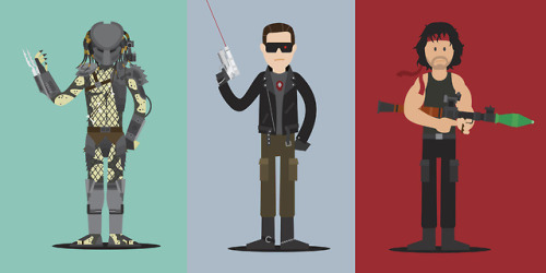 Scott Park 80s Movie Illustrations